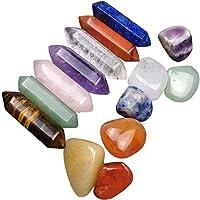 NaiCasy Piedras de Chakra de la energía Natural de Piedra curativo 7 Chakra Hexagonal Columna de Cristal Piedras de…