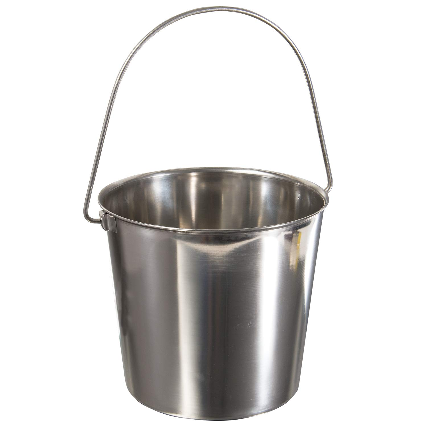 Update International UP-13 13 Quart Utility Pail, 202 Stainless Steel by Update International