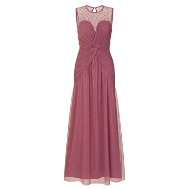 Little Mistress Vestido Largo En Color Rosa Pastel Con