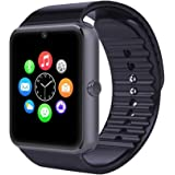 Evershop® Bluetooth Smart Watch with SIM Card Slot Smart Health Watch Independent Smartphone for Android IOS Smartwatch (Black)