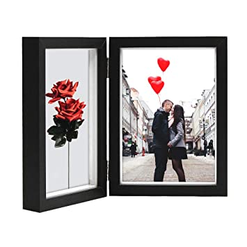 Amazoncom Afuly Double Picture Frame 5x7 Vertical Hinged Photo