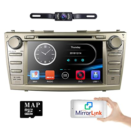 hizpo Rear Camera Included for Toyota Camry 2007 2008 2009 2010 2011 8 inch  Indash CAR DVD Player GPS Navigation Navi iPod Bluetooth HD Touchscreen