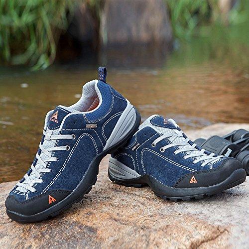 Humtto Scarpe Da Trekking Stretti Sole Uomo Inverno Outdoor Scarpe Da Arrampicata Sportiva 1526 Blu