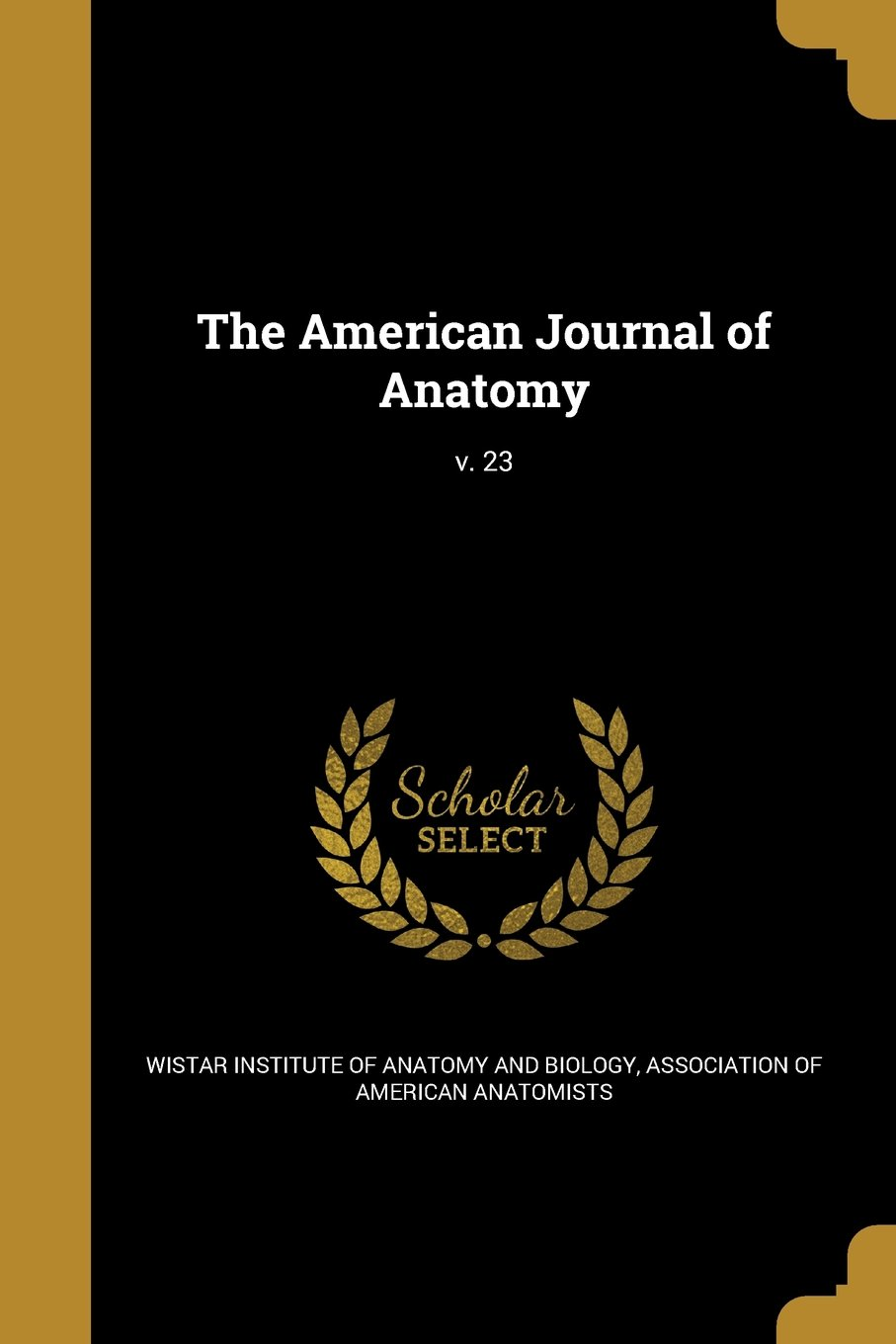 Download The American Journal of Anatomy; V. 23 pdf