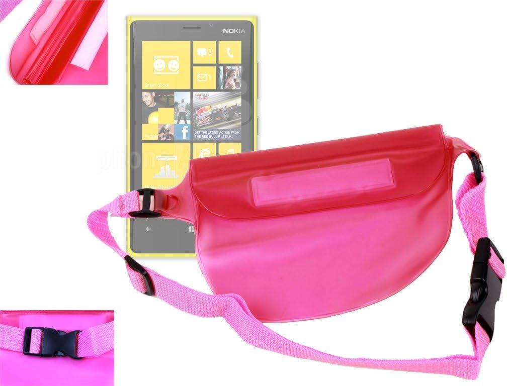 1661 1800 /& 2220 Slide DURAGADGET Travel Range Pink Digital Camera Waterproof Dry Bag//Pouch with Adjustable Waist Strap for Nokia Lumia 620 Nokia 1662