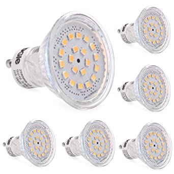 LEDGLE Pack GU10 LED bombillas, 60 W bombillas hal¨®genas equivalentes, MR16