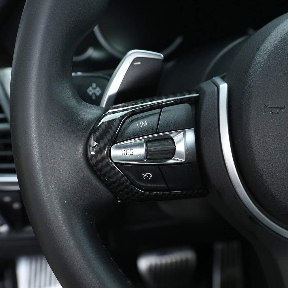 ABS plástico cromado volante ajuste del marco del botón para M3 M4 M5 Nuevo 1 3 series F20 F30 X5M F15 fibra de carbono: Amazon.es: Coche y moto