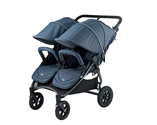 Valco Baby Snap Duo Trend Lightweight Twin Baby Double Stroller Denim NEW 2018