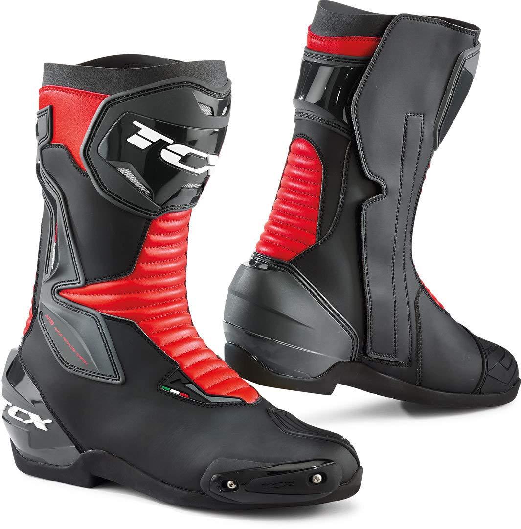 Color Negro y Rojo TCX SP-Master Botas de Moto Talla 42