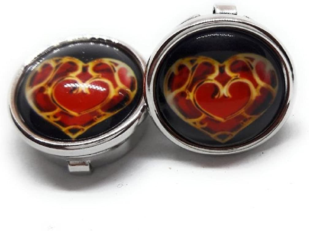 Menz Jewelry Accs Zelda Heart Button Covers ! Manufacturers Direct Pricing!!