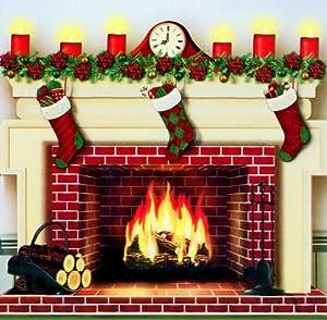 fake fireplace christmas decoration 2018