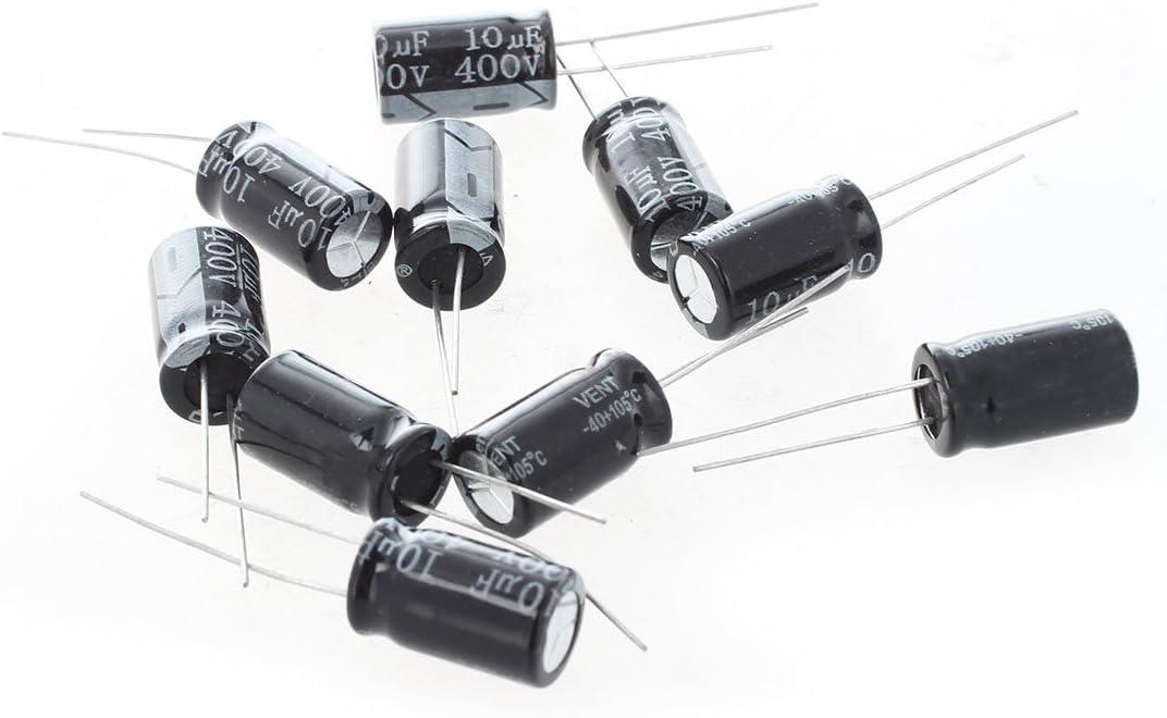 Sodial R 10 X 400v 10uf Niedrig Esr Impedanz Elektrolytkondensatoren Kondensator Baumarkt