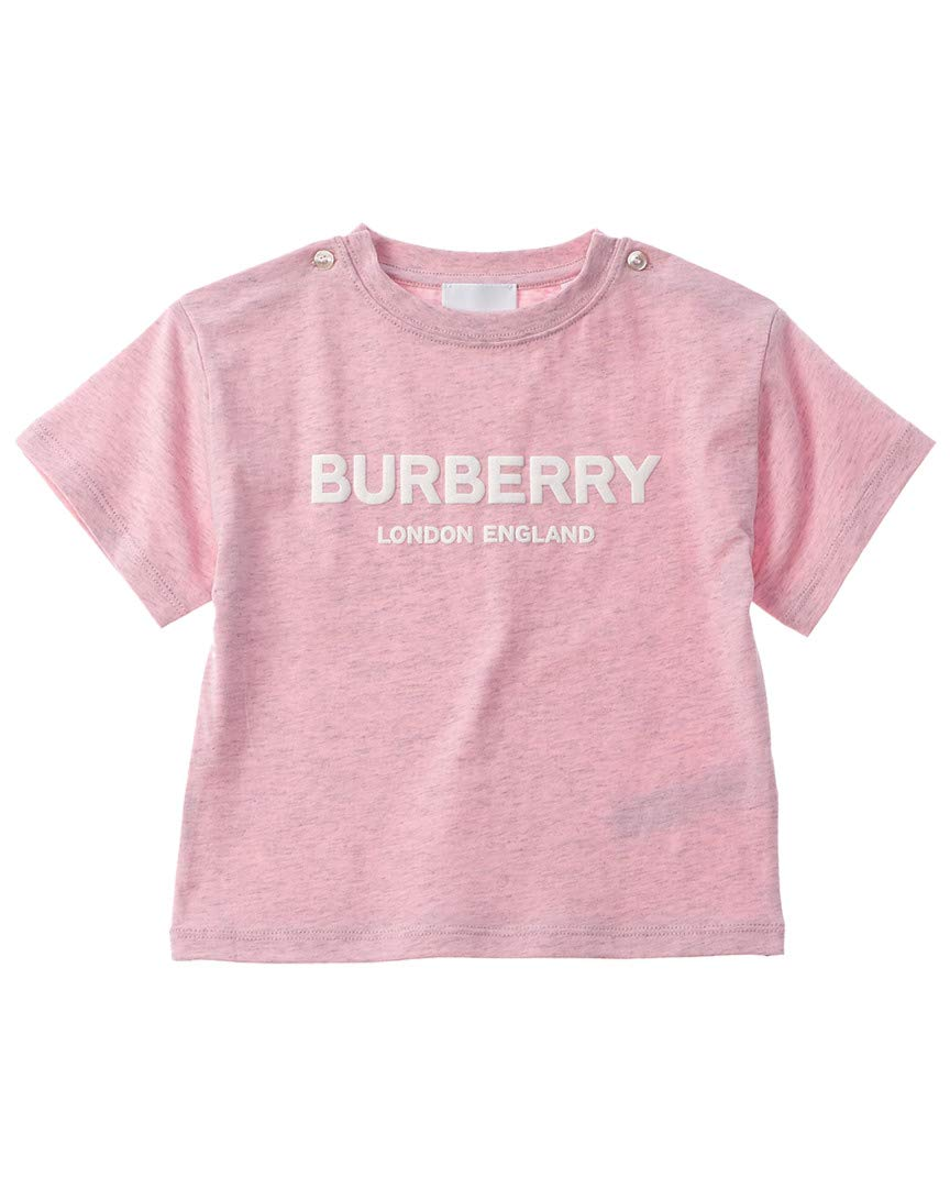 BURBERRY Girls Logo Print T-Shirt, 24, Pink by BURBERRY (Image #1)