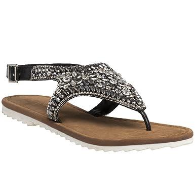 01dc0781627d Amazon.com  Ilse Jacobsen Sheila Strap Womens Sandals Black  Clothing