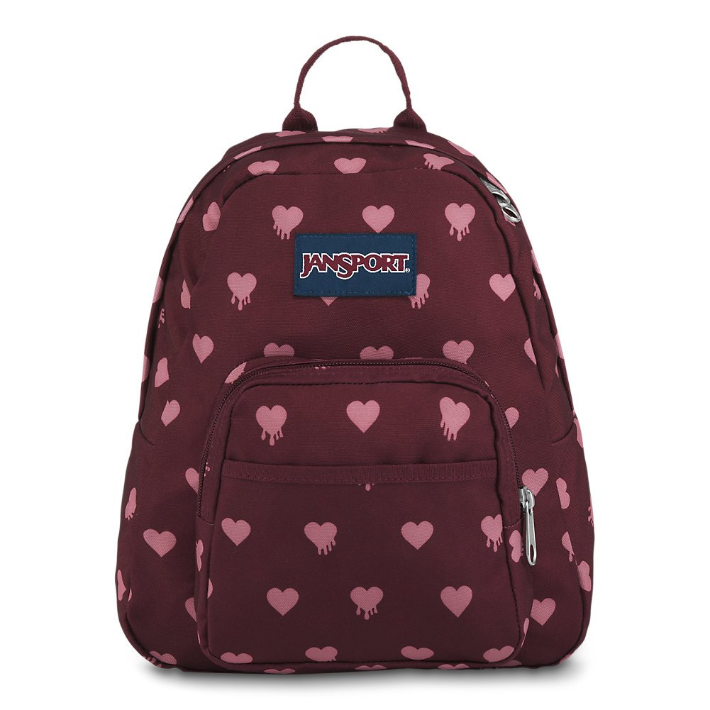 139e65bf1a Galleon - JanSport Half Pint Mini Backpack - Russet Red Bleeding Hearts