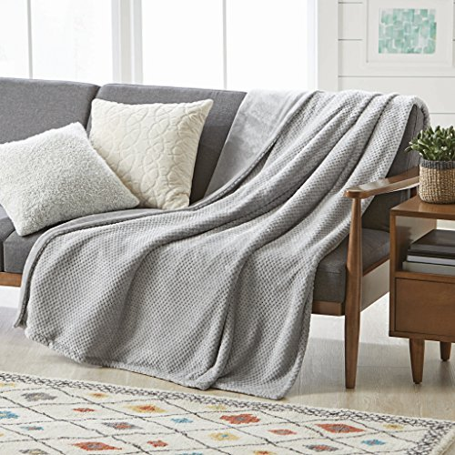 Better Homes Gardens Throw Blanket 50 inch X 70 inch (Silver) from Better Homes & Gardens