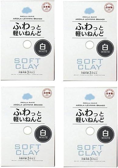 Daiso Jap/ón suave arcilla ligera Fluffy blanco 4/paquetes