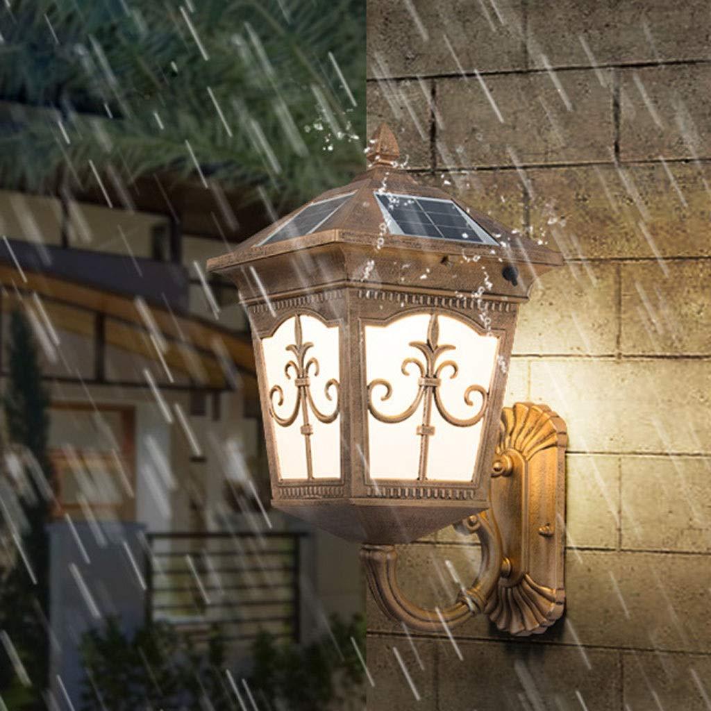 Lampada da parete esterna della porta della villa europea all'aperto della famiglia Lampada da parete esterna della porta del cortile della luce del balcone impermeabile (dimensioni   B)