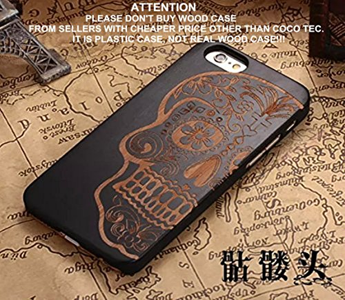 iPhone 6s Case,CoCo Laser Carving Marked Wood
