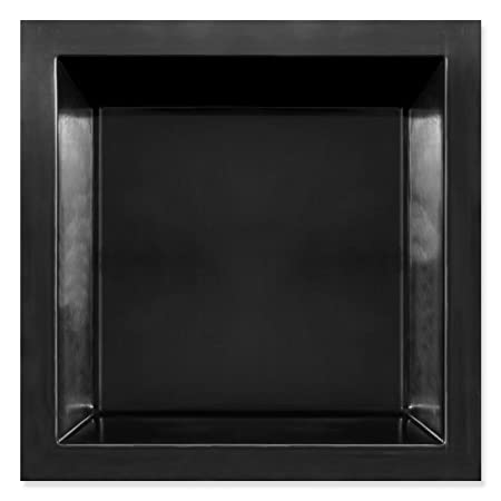 GFK Rechteckenbecken 2300, Teichbecken, 1900 Liter, quadratisch, 210x210x52 cm (Schwarz)