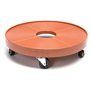 DeVault DEV3000P 16 Inch Plant Dolly with Hole Terra Cotta