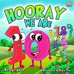 """""""HOORAY WE'RE 10"""": Teach Your Child Numbers  (Bedtime story toddlers book)"""
