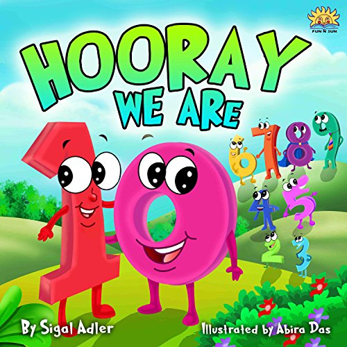 "Children's picture books :""HOORAY WE'RE 10"" :Bedtime story(Beginner readers)values(Funny)poetry, basic concepts Toddler series,Early learning(Preschool/ ... (Toddlers ebooks for be"