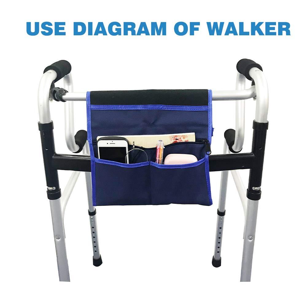 Walker Bags para silla de ruedas scooter eléctrico viaje bolsa de ...