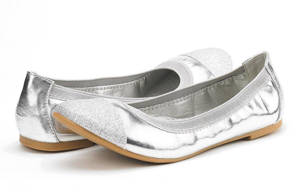 44bc110670df DREAM DREAM PAIRS Women s Sole-Flex Walking Ballerina Walking Flats  B076FKNRJF Shoes Silver 4ff0513 - deltaportal.info
