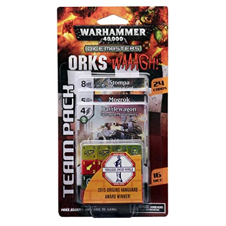 Amazon.com: WizKids Warhammer 40, 000 Dice Masters: Orks - Waaagh! Team Pack Toy: Toys & Games
