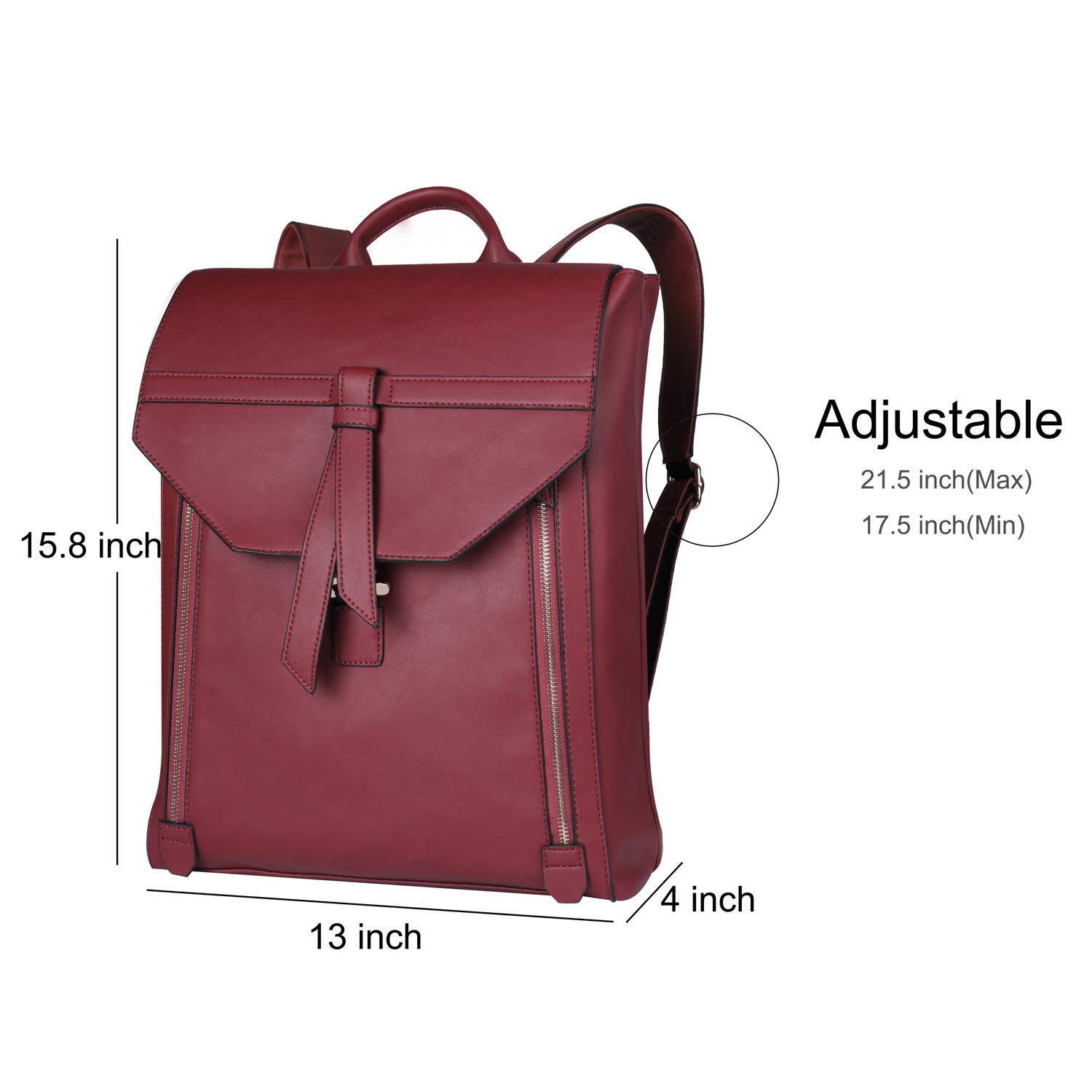 Estarer Women Fashion Leather Backpack for Travel Work College Laides PU Leather Backpack by Estarer (Image #2)