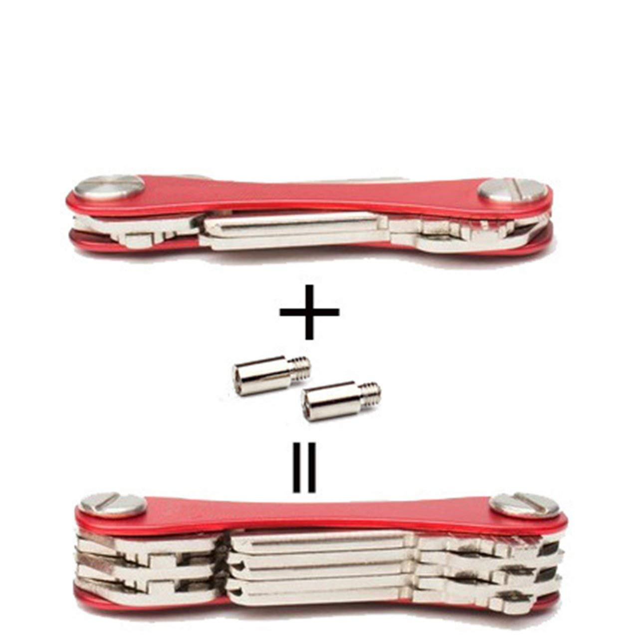 EDC in lega di alluminio portatile intelligente portachiavi titolare cartella cartella portachiavi portachiavi auto chiave portafoglio collettore governante