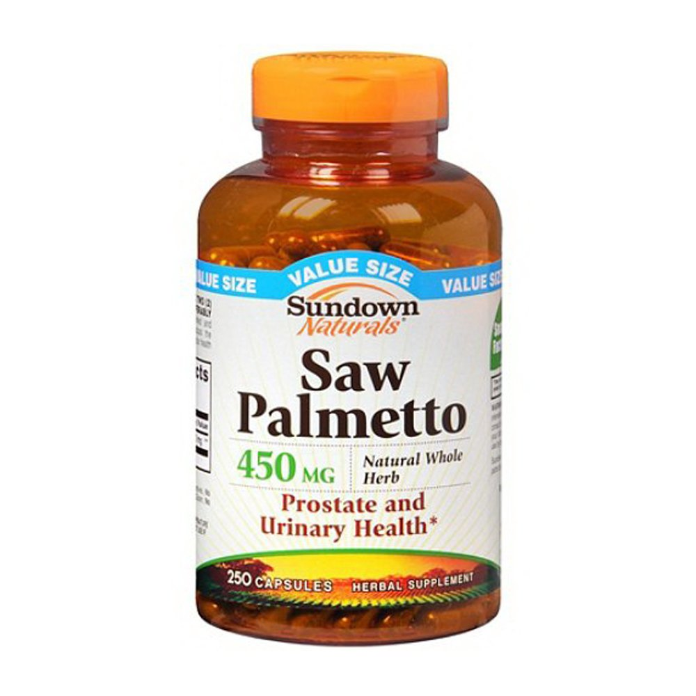 Sundown Naturals Saw Palmetto 450 mg Herbal Supplement Capsules 250.0 ea. (Quantity of 3)
