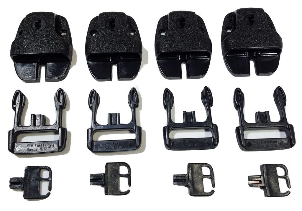Qty 4 SPA or Hot Tub Cover Locking Plastic Buckle Replacement Kit w/ Keys ITW Nexus