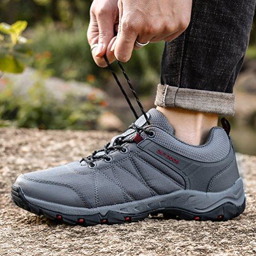 Dannto Senderismo Deportes de y Zapatos Libre Gris Low Rise Hombre de Botas Zapatos Trekking Running Zapatillas para Aire Ocio de al qrBFq