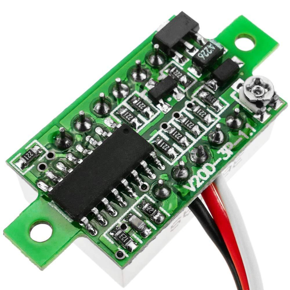 Display LCD a 3 cifre Verde con voltmetro 0-100V BeMatik