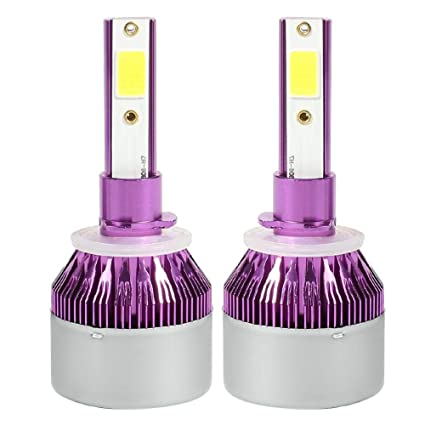 Asiproepr - Bombilla LED para coche (1 par, 72 W, 6500 K, para ...