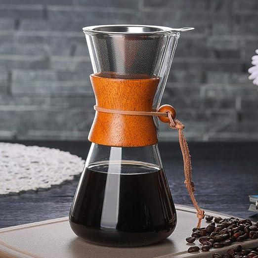 KOIYOI Cafetera de Vidrio de 550 ml 2019 Cafetera de café clásica ...