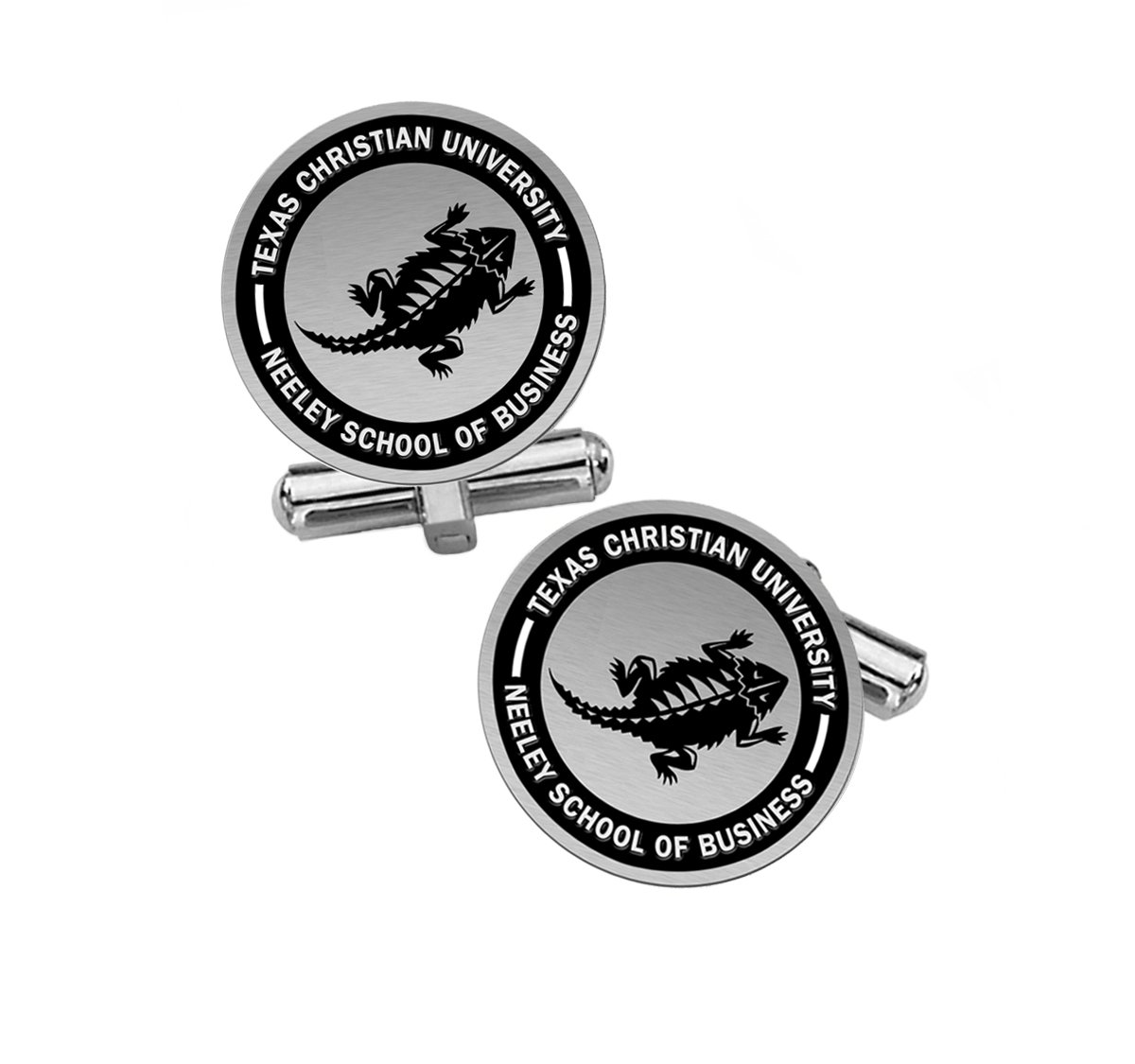 Neeley School of Business Cuff Links | Texas Christian University TCU by College Jewelry