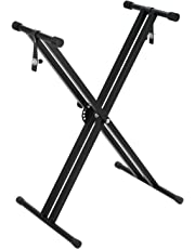Voilamart Keyboard Stand, Twin Braced X Frame, Height Adjustable Folding with Securing Locking Straps
