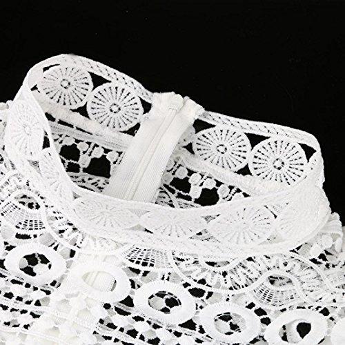 Creux Dress Robe Partie Robes Blanc Dentelle Dentelle Manches Femmes Sexy Robe Cocktail Mini Crayon Longues Angelof Droite YwZqFTT
