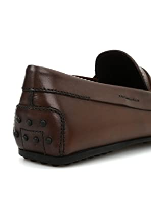 Tod s City Gommino Mocassino in Pelle XXM0LR00011D9CS801 Marrone Uomo 10   Amazon.co.uk  Shoes   Bags 05ca08aa433