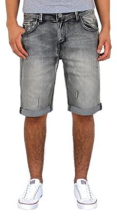 ea8716a120c4 by-tex Herren Jeans Shorts kurze Bermuda Shorts Used Look kurze Hose Basic  Jeans Shorts AS431  Amazon.de  Bekleidung