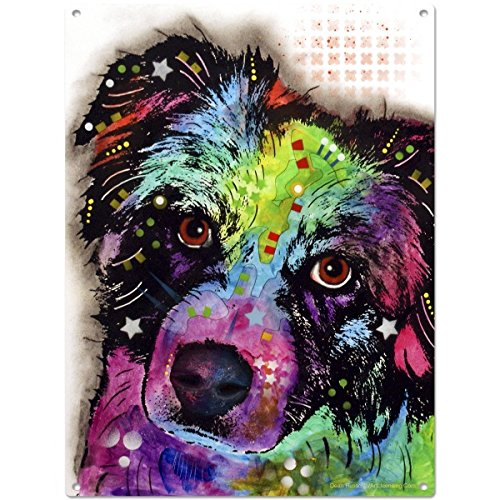 Australian Shepherd White Metal Sign product image