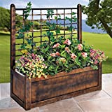 Brylanehome Flower Box With Trellis (Green,0)