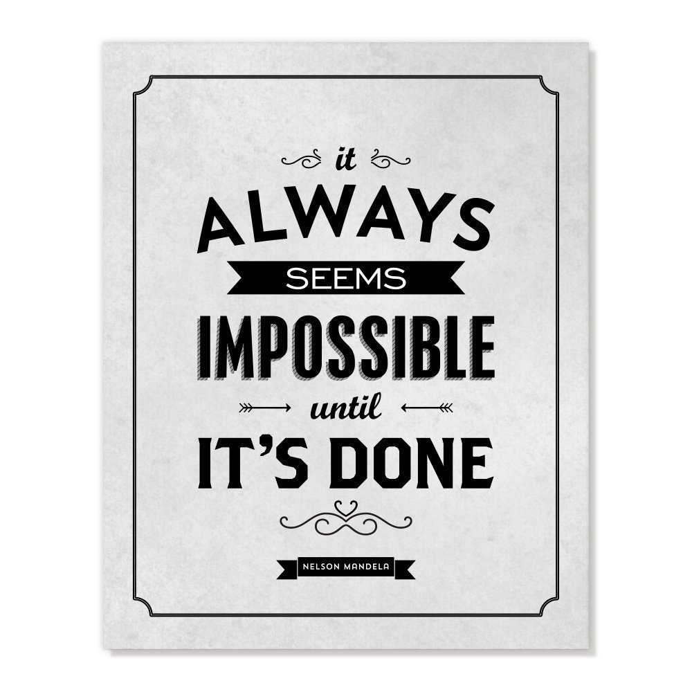 Amazon Nelson Mandela Quote It Always Seems Impossible