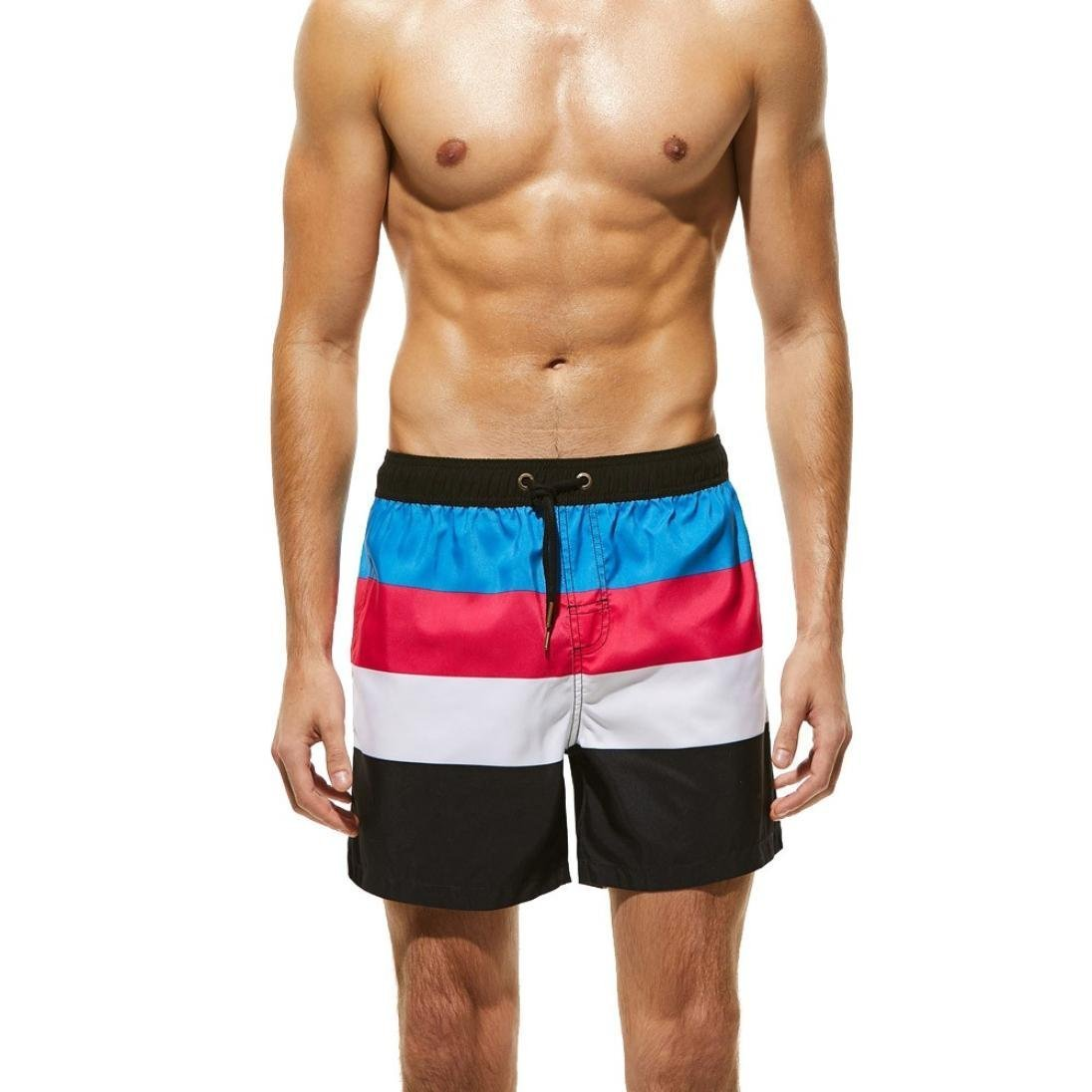 Inverlee Men Trouser Swimwear Running Surfing Sports Beach Shorts Trunks Board Pants (M, Sky Blue)