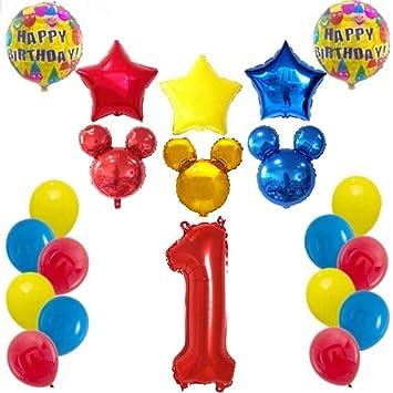Shopama Globos Decoraciones de cumpleaños 1 año Mouse Kit ...
