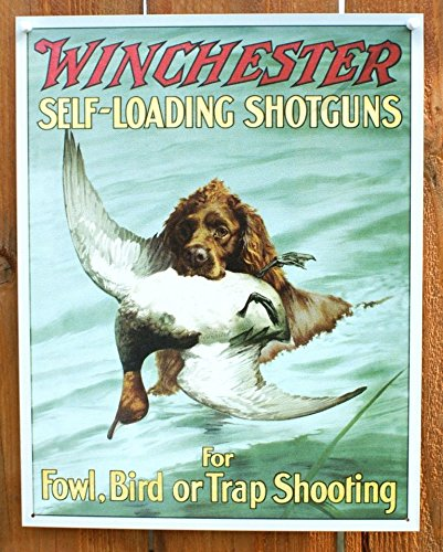 Winchester Shotguns Foul Bird Trap Shooting Hunting Dog Retro Vintage Tin Sign - Bird Dog Sign