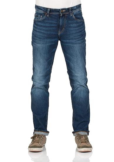 TOM TAILOR Herren Jeans Josh Slim Fit Blau Mid Stone Wash